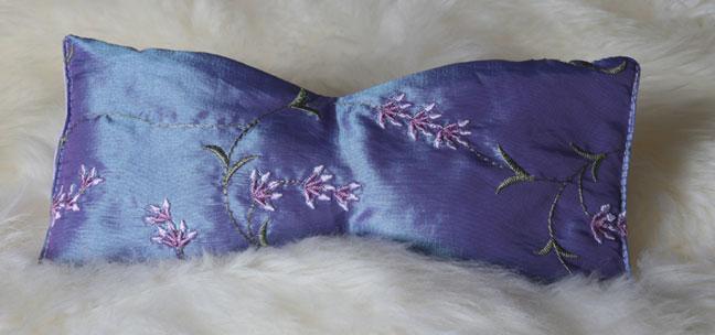 Lavender Animal Eye Pillows : Eye Pillow - Lilac Embroidered Lavender - Marathon Books